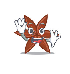 waving anise character cartoon style vector image