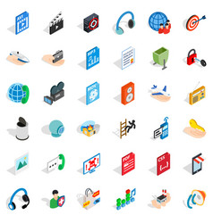 Web design icons set isometric style vector