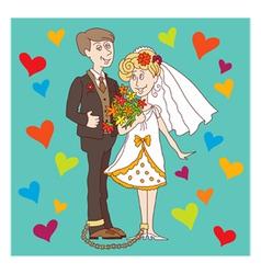 wedding1 vector image