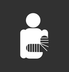 White icon on black background silhouette vector