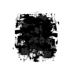 Black and gray grunge spot vector image vector image