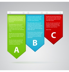 different color labels with many text vector image