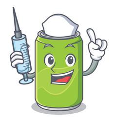 nurse soft drink character cartoon vector image