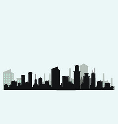 silhouette level city vector image