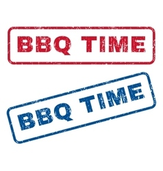 Bbq time rubber stamps vector