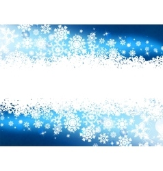 Blue winter background snowflakes EPS 8 vector image vector image