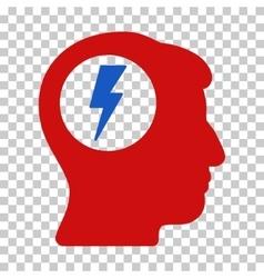 Brain electric shock icon vector