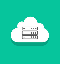 cloud servers technology icon concept computing vector image