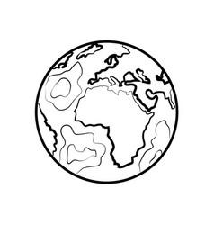 hand drawn sketch earth vector image vector image