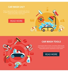 Overnight car wash banners vector