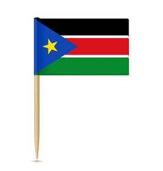 south sudan flag toothpick 10eps vector image vector image