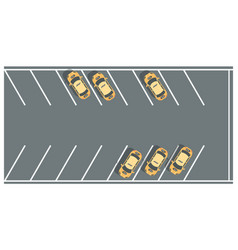 taxi parking lots - modern colorful vector image