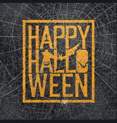 text spider web background vector image vector image