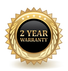 Two Year Warranty vector image
