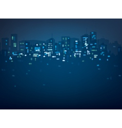 city night lights vector image vector image