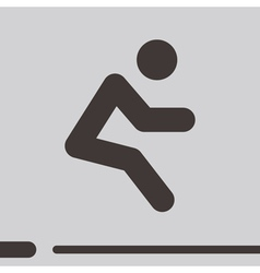 long jump icon vector image vector image