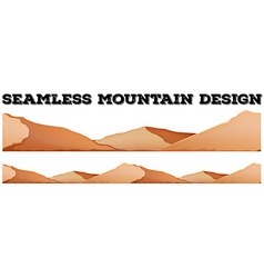 Seamless brown mountain range vector image