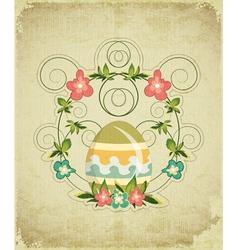 Vintage Easter Card vector image vector image
