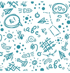 Back to school hand drawn doodle seamless pattern vector image vector image