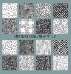 hand drawn doodle thin line patterns vector image vector image