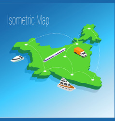 map india isometric concept vector image vector image