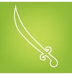 Saber black line icon vector image