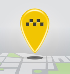 Taxi cab point vector image