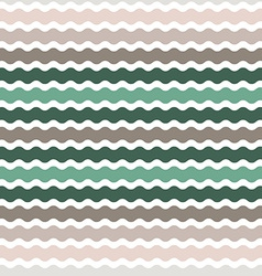 Wave green brown gradient background seamless vector image vector image