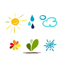 Weather icons for your design vector image
