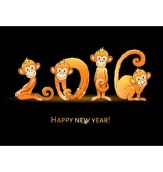2016 Monkey year vector image