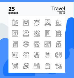 25 travel icon set 100 editable eps 10 files vector image