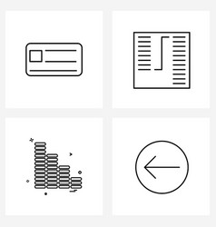 4 editable line icons and modern symbols of vector