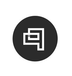 alphabet q logo concept shadow break style vector image