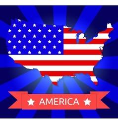America flag on american territory vector