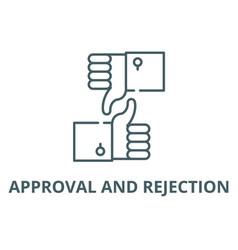 approval and rejection line icon approval vector image