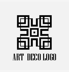 Art deco logo vector