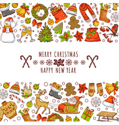 background picture for christmas invitation cards vector image