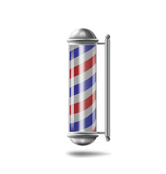 barber pole isolated vector image