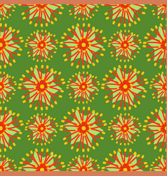 Beautiful tropical flower seamless pattern design vector