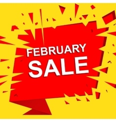 Big sale poster with FEBRUARY SALE text vector