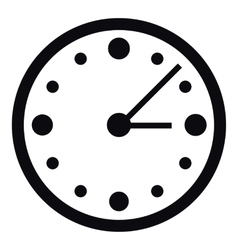 Big wall clock icon simple style vector