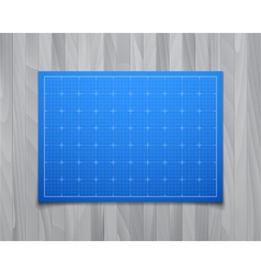Blue isolated square grid with shadow isolated on vector
