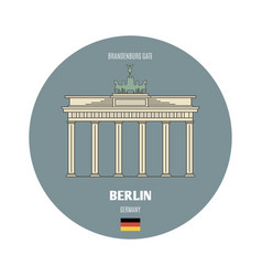 Brandenburg gate in berlin germany vector