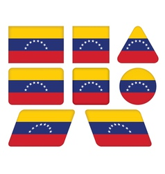 buttons with flag of Venezuela vector image