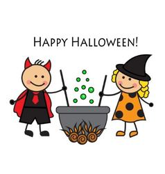 Cartoon people in costume Halloween vector image