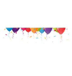 Celebration balloons with confetti vector