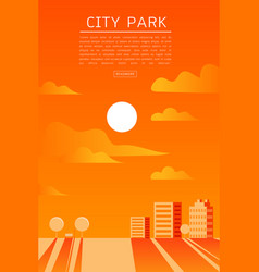 city park flat vector image