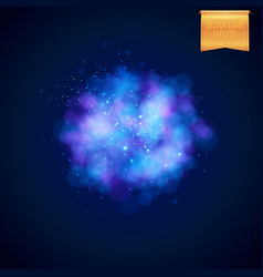 Cloudy blue explosion background vector