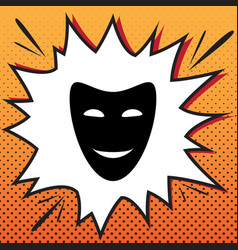comedy theatrical masks comics style icon vector image