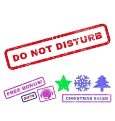Do Not Disturb Rubber Stamp vector